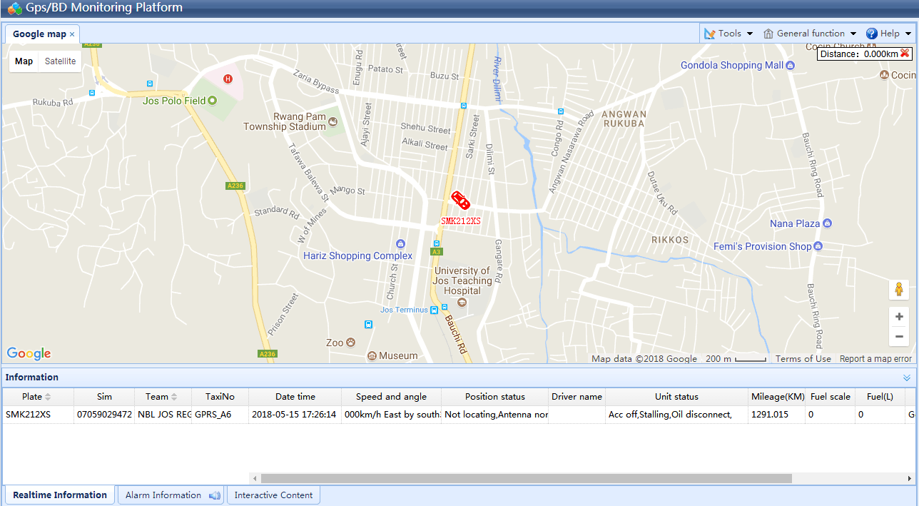 GPS Tracking With Vehicle Speed Governor
